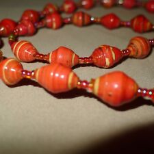 Recycled Paper & Seed Bead Necklace / Bracelet from UGANDA Artisan Africa
