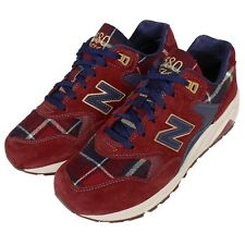 New Balance WRT580WB B 580 Red Navy Suede Womens Retro Running Shoes WRT580WBB