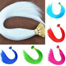 10Pcs Long Synthetic Feather Hair Extensions Single Color Solid Accessories DIY