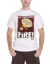 Family Guy T Shirt Stewie AFT Torpedoes Fire new Official Mens white