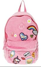 Claire's Pink Emoji Sticker Patches Backpack New With Tags