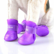 1Set Waterproof Cute Pet Boots Dog Rain Boot Shoes Anti-slip Rubber Shoes GIFT