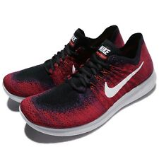 Nike Free RN Flyknit 2017 Run Red Black Men Running Shoes Trainers 880843-006