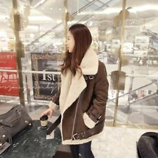 British Style Women Coats Suede Leather Jackets Coats Winter Jackets