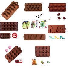 Silicone Chocolate Mold Cake Decor Candy Cookie Soap Ice Cube Jelly DIY Mould J