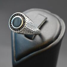 Men Fashion 925 Sterling Silver Ring with Cubic Zircon/CZ Stone, Rhodium Plated