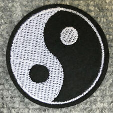 CHINESE PHILOSOPHY YIN YANG EMBROIDERED SYMBOL IRON ON 60mm CIRCLE PATCH,BADGE