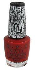 OPI NAIL POLISH E55 RED Shatter 15ml Red Creme Crackle Lacquer