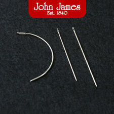 John James Saddlers Harness Needles Curved Beading Thread Hand Sewing Leather