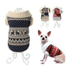Small Medium Dog Clothes Coat Jumper Pet Puppy Fleece Padded Jacket Chihuahua
