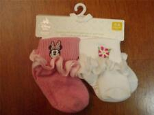 Infant/Toddler Girls 2 Pack Minnie Mouse Sock Set  Sizes 0-6 & 12-24 Mos   NWT!