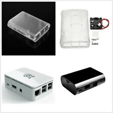 Transparent /White/Black ABS Cover Box Case For Raspberry Pi 3, 2  Fan ATF