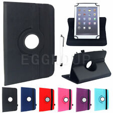 """AU For Various 7"""" 8"""" 10"""" Tablet Rotating Universal Flip Leather Stand Case Cover"""