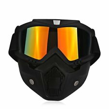 UV LEN Goggles Glasses Face Mask Motorcycle Riding ATV Dirt Bike Safety Shield