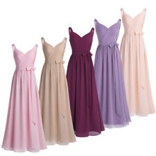 Dress Bridesmaid Formal Long Evening Chiffon Gown Prom Women Party Cocktail New