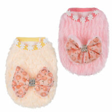 Puppy Dog Vest Teacup Dogs Clothes Cute Cherry Bow-Knot Small Pet Cat Apparel