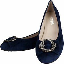 Dirndl Shoes Traditional Shoe Court Shoes Navy Indoor Outdoor Leather Hand Made