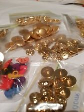 Vintage 1960-70s 'Gold Tone' Buttons- For Sewing Craft Clothing- Sets To Choose