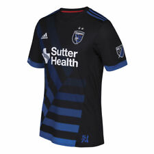 adidas San Jose Earthquakes Black 2017 Primary Authentic Jersey - MLS