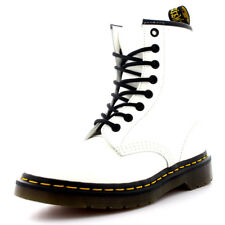 Womens Dr Martens 1460 Leather White Combat Military Punk Ankle Boots UK 3-8