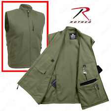 Olive Drab Undercover Travel Vest - Men's 12 Pocket Tactical Vest Rothco 2721
