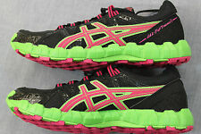 ASICS GEL FUJI TRAINER 2 Womens BLACK PINK GREEN RUNNING SNEAKERS NWT  7  10  11