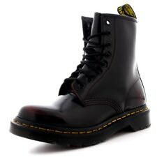 Womens Dr Martens 1460 Arcadia Leather Cherry Red Burnished Ankle Boots UK 3-9