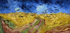 Wheatfield with Crows Painting by Vincent van Gogh Art Reproduction