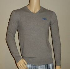 RRP 79.95 Vintage Superdry Mens Orange Label V-neck jumper size Medium