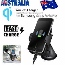 Qi Wireless Car Charger Dock Windshield Dashboard Mount Holder for Phone AU
