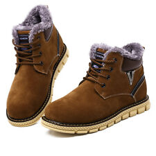 Men's Martin Boots Velveteen Winter Outdoor Leather New Lace Up Ankle Boots 663