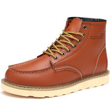 Men's Ankle Boots Lace Up Martin Boots Leather Non-slip New Winter Outdoor a12
