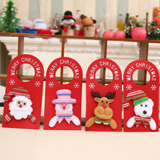 IC- Lovely Xmas Santa Claus Snowman Moose Bear Christmas Door Hanger Decor Relia