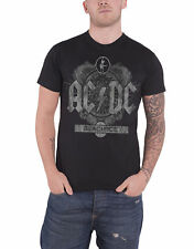 AC/DC T Shirt Black Ice Contrast Album Cover Band Logo Official Mens New Black