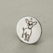 Stainless Steel Chihuahua Pet Dog Charm Pendant, Jewelry Supply, MSA14-0044