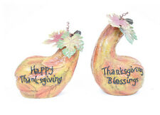 """Happy Thanksgiving"" or ""Thanksgiving Blessings"" Harvest Gourd Fall Decor"