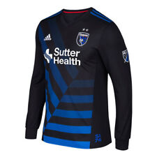adidas San Jose Earthquakes Black 2017 Primary Authentic Long Sleeve Jersey