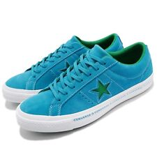 Converse One Star Pinstripe Blue Green Suede Mens Womens Shoes Sneakers 159813C