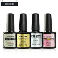 BELLE FILLE Top/Matte/Base nail gel polish professional UV/LED Long Lasting