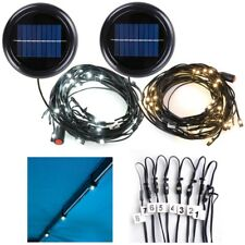 48 LED Solar String Light Fit 8-Rib 10ft Aluminum Outdoor Patio Umbrella