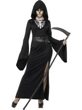 Womens Halloween Lady Reaper Costume Ladies Fancy Dress Outfit