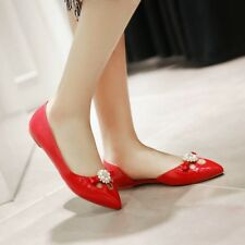 NEW Womens Flat Heels Shoes Hollow Out Flower Pointed Pumps AU Size YD7485