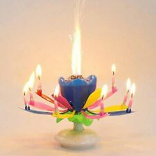 2 X Magical Lotus Flower Birthday Candles - 6 Colors