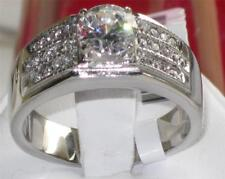 354 MENS MANS 3CT SOLITAIRE SIMULATED DIAMOND RING STAINLESS STEEL SIGNET PINKY