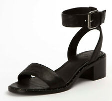 New in Box Frye Womens CINDY 2 PIECE Black Leather 2 Strap Sandals 3479161-BLK