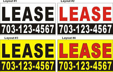 3ftX5ft Custom Printed ( for ) LEASE Banner Sign with Your Phone Number