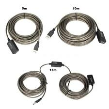 Brown USB2.0 Active Repeater Male to Female Extension Cable 5m/10m/15m Cord X4A1