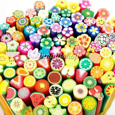 Nail Art Fimo Canes Rods Sticks Sticker Decoration Fruit Flower Dollhouse LOT