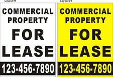3ftX4ft Custom Printed COMMERCIAL PROPERTY FOR LEASE Banner with Your Phone #