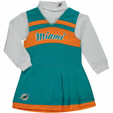 Miami Dolphins Girls Toddler Aqua Jumper Cheer Dress